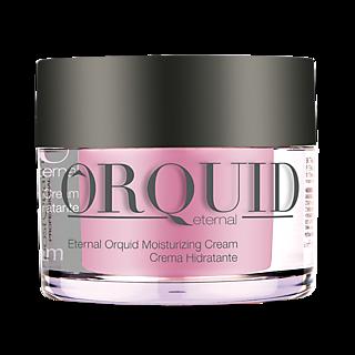 Visage frais et Resplendissant. Pour une peau plus jeune Pour peaux sèches Orchidée + Acide hyaluronique Pour 24 h d'hydratation