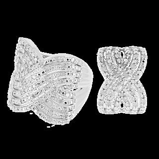 DIAMONESCENCE Bague Exquise Diamants 1/2 carat + Pendentif