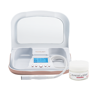 Offrez vous une nouvelle peau ! La microdermabrasion à domicile Atténue rides, cicatrices et tâches Juste 5 min, 2 fois par semaine Résultats prouvés cliniquement.