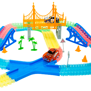 MAGIC TRACKS GIGA SET+ 2 VOITURES - Circuit de Voitures