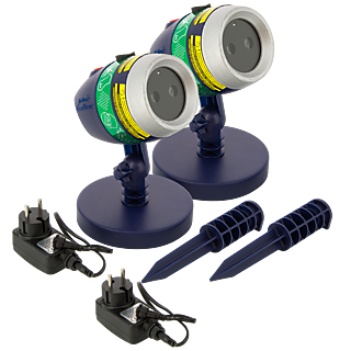 STAR SHOWER LASER MAGIC - Projecteur Laser- Lot de 2