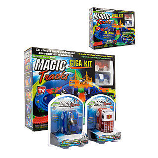 MAGIC TRACKS GIGA SET Lot de 2 + 2 Voitures