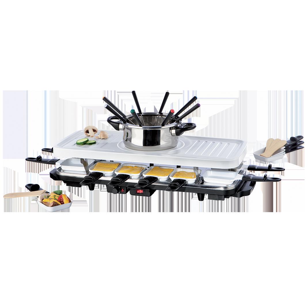 Gourmetmaxx raclette familiale 12 personnes multifonction w9 boutique - Appareil a raclette 10 personnes ...