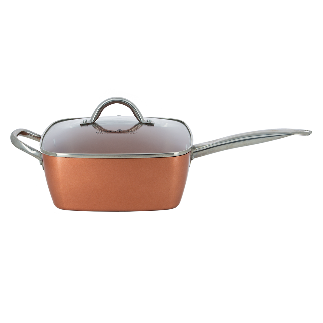 Copper chef po le antiadh sive set 5 pi ces m6 boutique - Poele de top chef ...