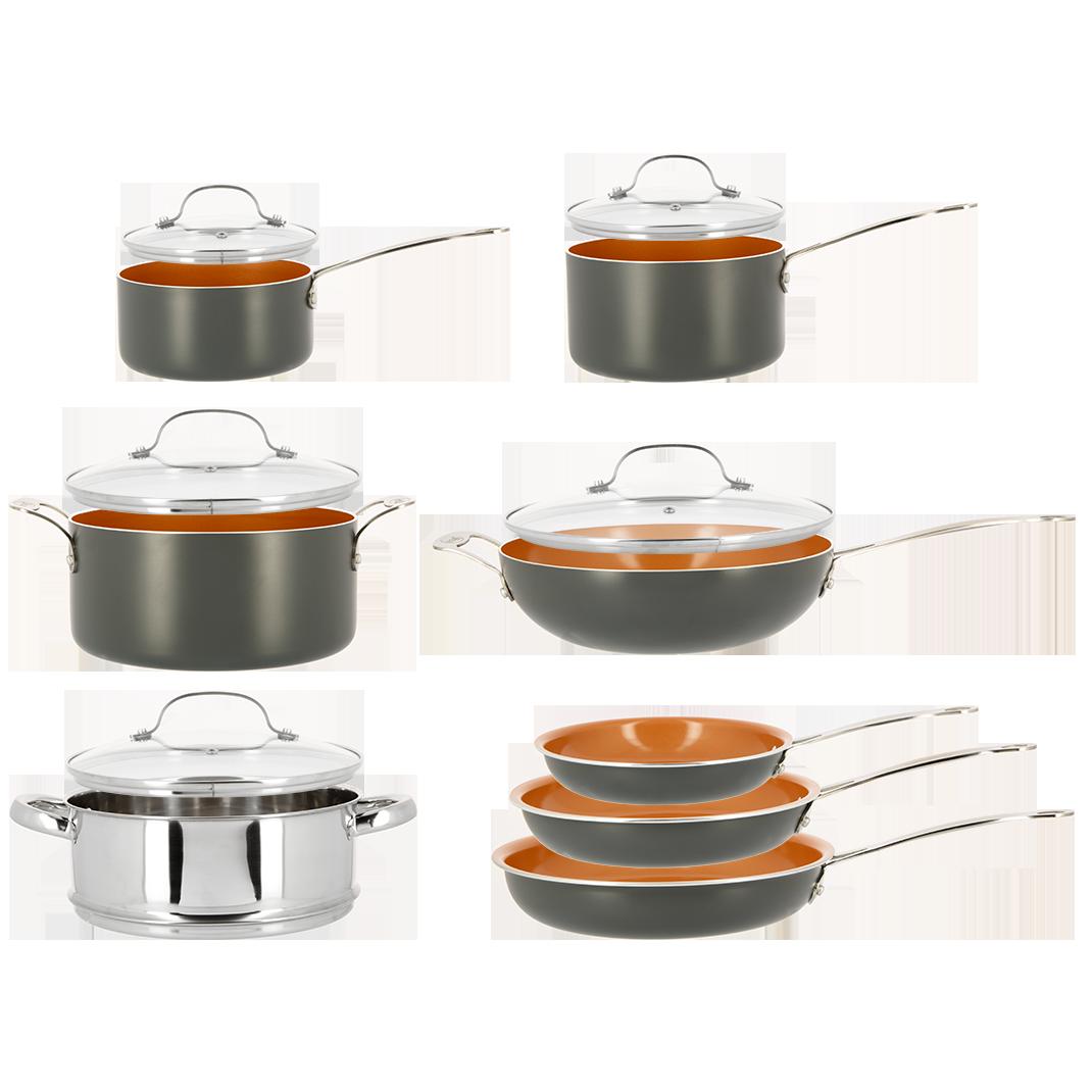 Gotham steel set de 13 pi ces best of shopping - Batterie de cuisine laguiole ...