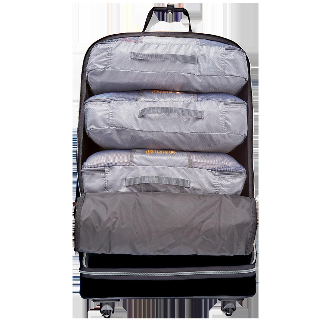 valise zip 68cm biaggi noire sacs de rangement zipcubes. Black Bedroom Furniture Sets. Home Design Ideas