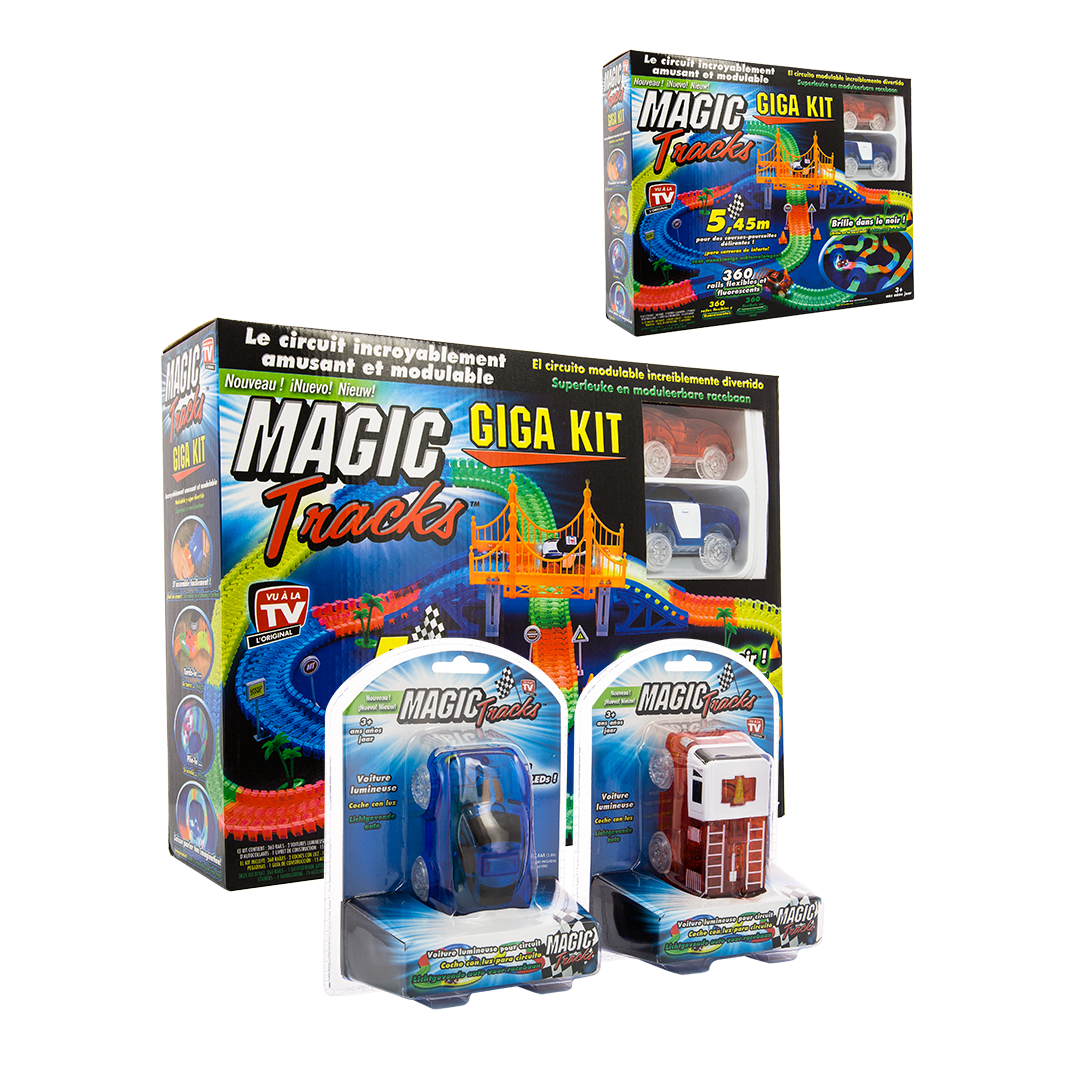 magic tracks giga set lot de 2 2 voitures la boutique. Black Bedroom Furniture Sets. Home Design Ideas