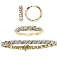Des diamants divins. Argent 925 plaqué or 282 diamants pour 0.72ct Satisfait ou remboursé 15 jours.