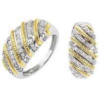 Un couronnement de diamants ! Argent 925 rhodié et plaqué or 34 diamants totalisant 1/2ct.