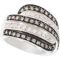 La finesse du diamant ! Argent 925 rhodié 22 diamants blancs 0.30ct 39 diamants champagnes 0.50ct.