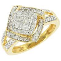 Un plaisir éternel. Argent 925 plaqué or 48 diamants 0.20 carat.