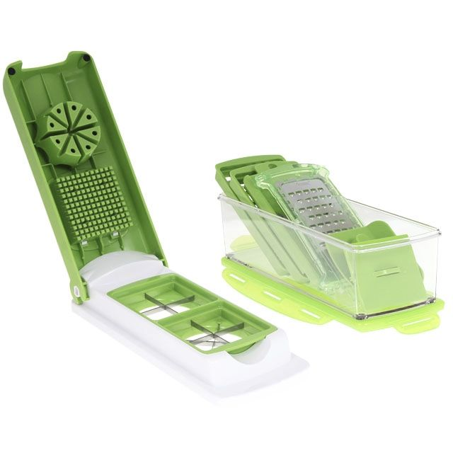 Nicer dicer plus d coupes l gumes m6 boutique - Coupe legumes nicer dicer plus ...
