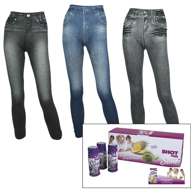nrj12.euroshopping.fr - JEGGINGS Remodelant + Cure minceur Artishot - NRJ12 TV Shop