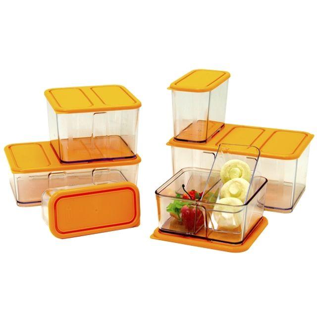 Bo tes stabili cubes lot de 6 bo te plastique for Boite plastique alimentaire