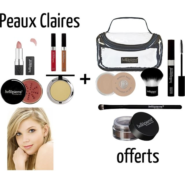 Trousse Maquillage+ 2 Lip Gloss BELLAPIERRE - www.parispremiereboutique.com