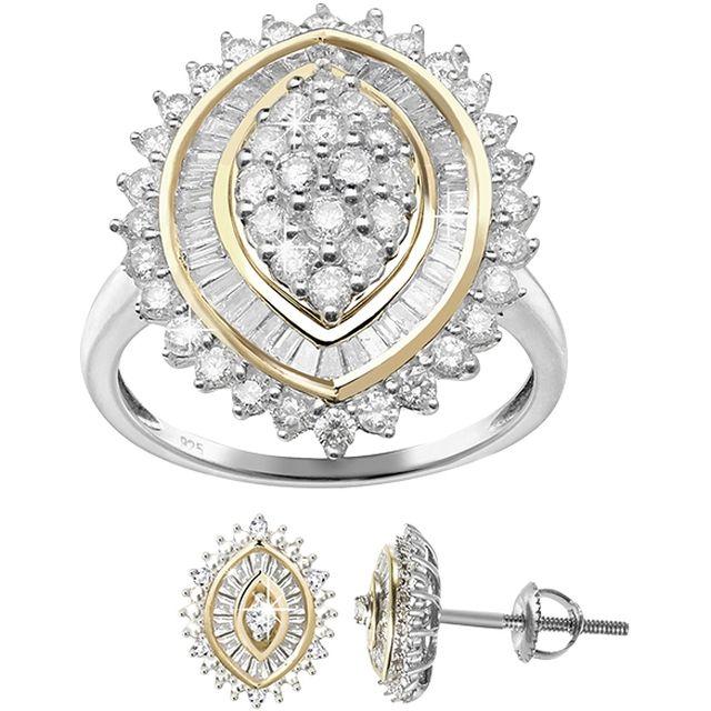 M6boutique.com DIAMONESCENCE Bague Luxe 1 carat / Boutique M6 Boucles d'oreilles