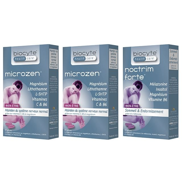 BIOCYTE Pack 2 Microzen + 1 Noctrim - parispremiereboutique.com