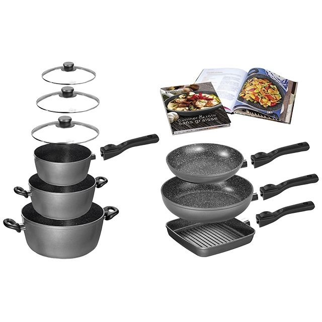 Tabourets de cuisine batterie de cuisine en pierre m6 - Cuisine en scene batterie de cuisine ...