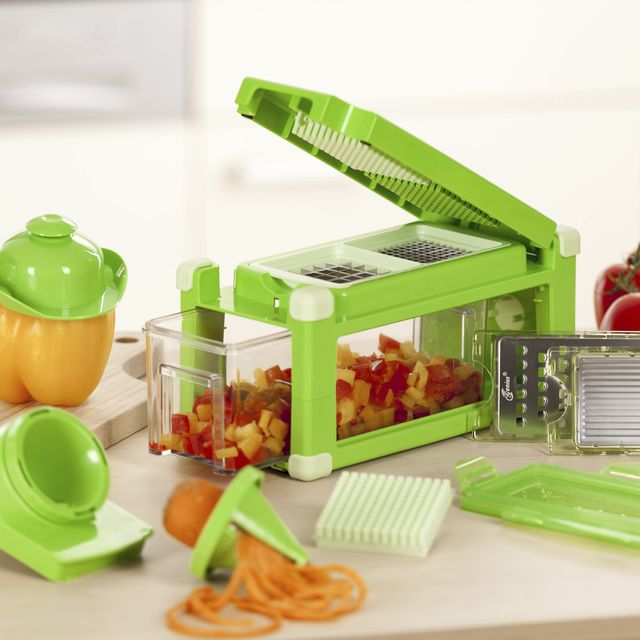 Genius nicer dicer magic cube gourmet appareil de d coupe best of shopping - Coupe legumes nicer dicer plus ...